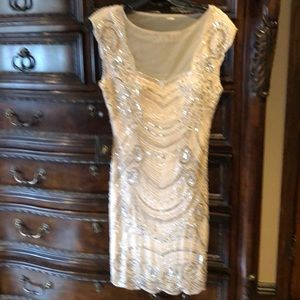 Adrianna papell size 2 beaded dress brand new